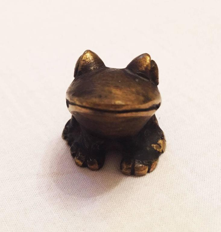 Brass Frog by Walter Bosse for Hertha Baller 4