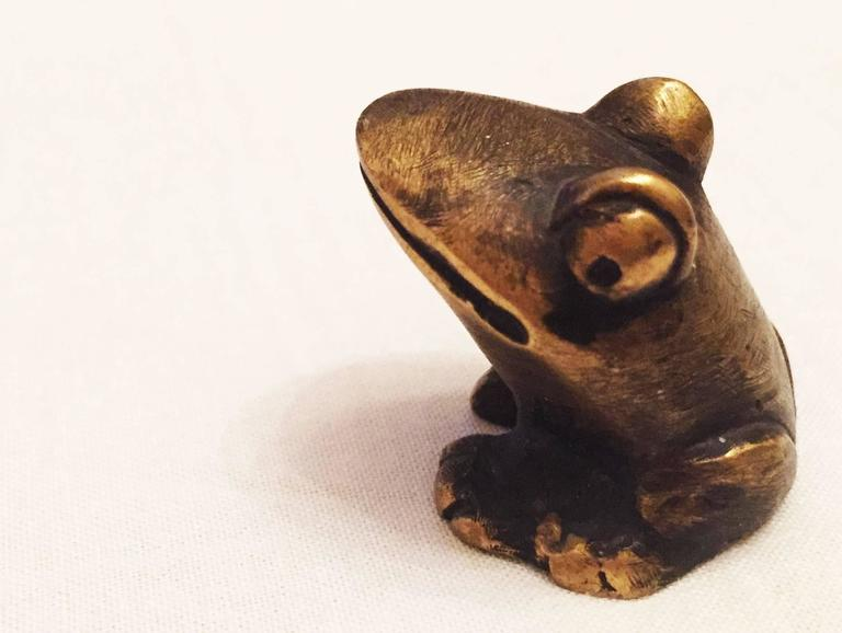 Brass Frog by Walter Bosse for Hertha Baller 6