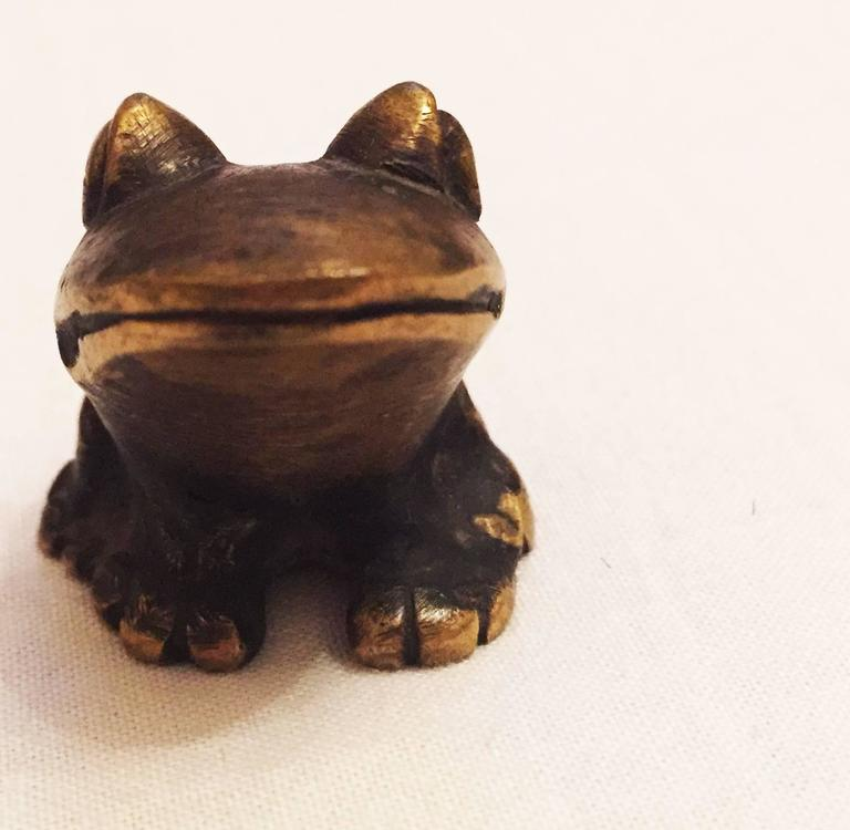 Brass Frog by Walter Bosse for Hertha Baller 2