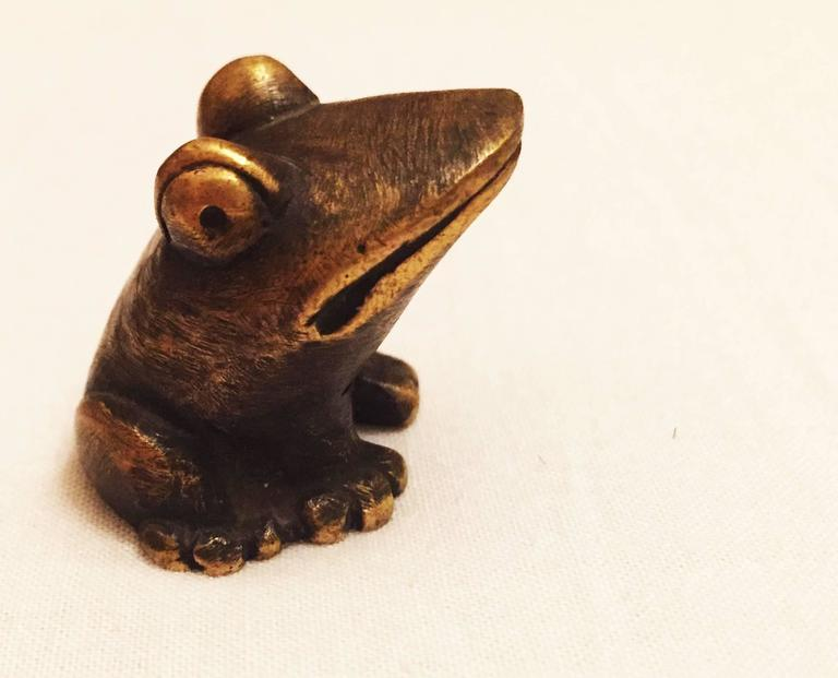 Brass Frog by Walter Bosse for Hertha Baller 3