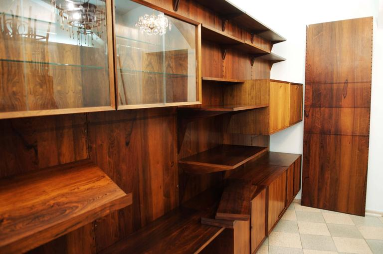 rosewood shelving system by poul cadovius for sale at 1stdibs. Black Bedroom Furniture Sets. Home Design Ideas