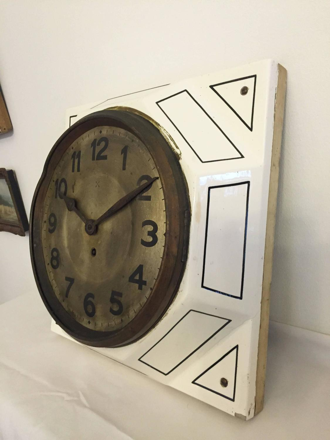 decorative wall clocks large deco wall clock for at 1stdibs 11742