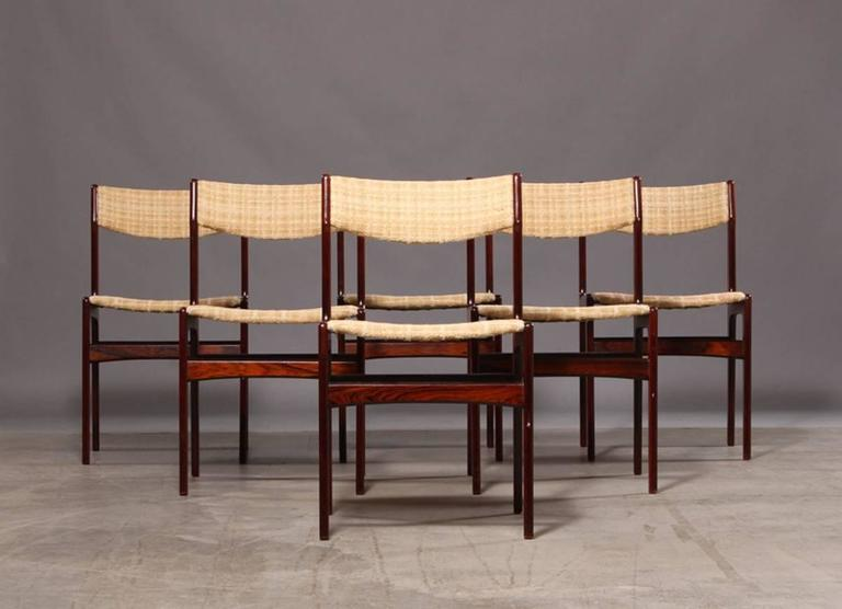 Set of Six Mid-Century Danish Rosewood Dining Chairs 8