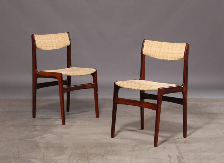 Set of Six Mid-Century Danish Rosewood Dining Chairs 6