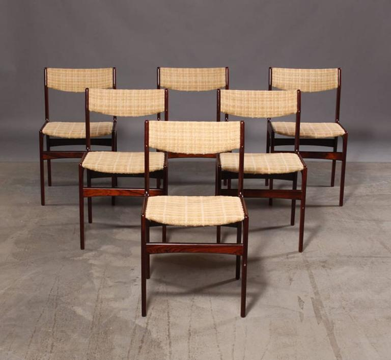 Set of Six Mid-Century Danish Rosewood Dining Chairs 9