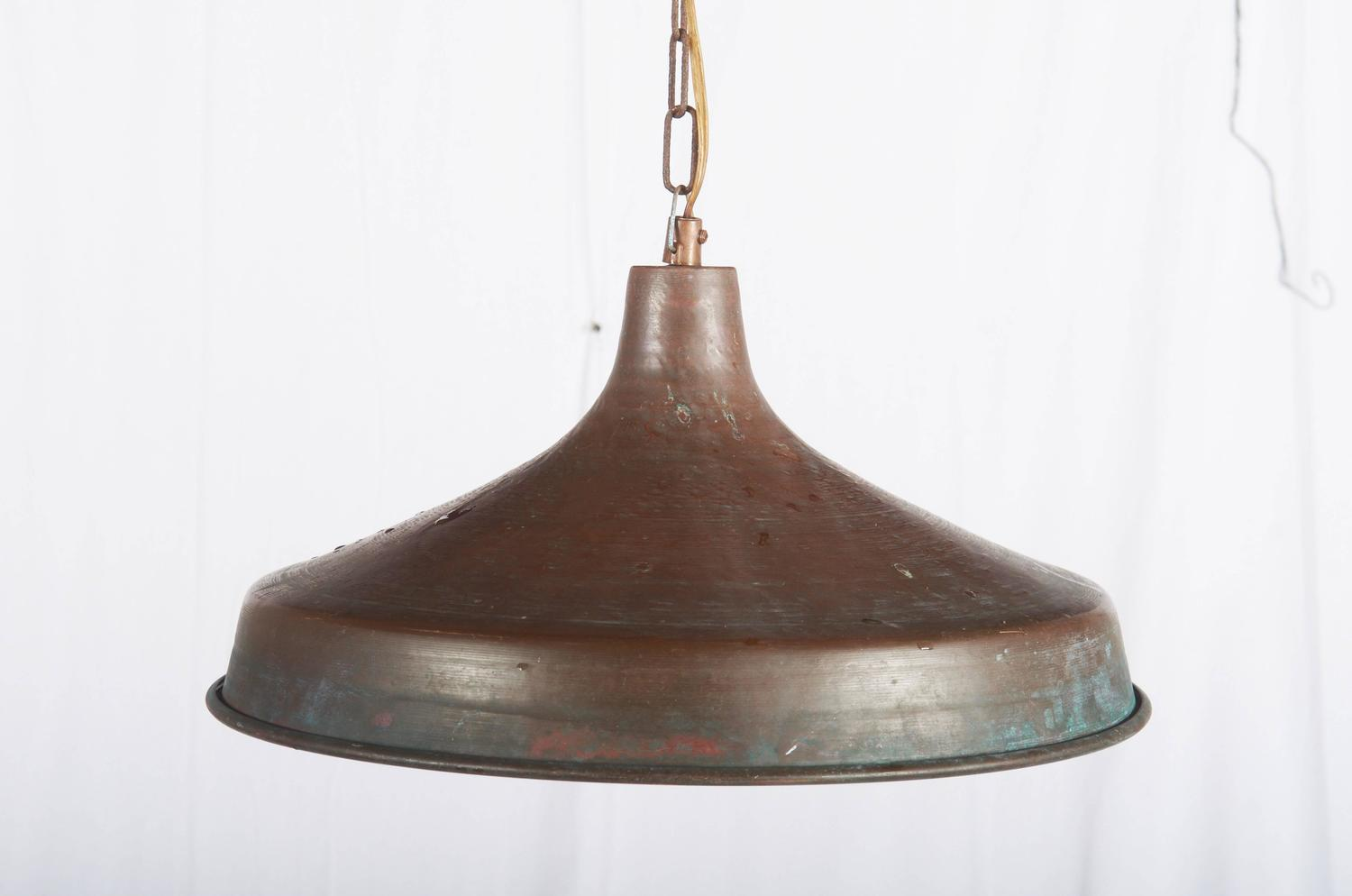 Large copper pendant lighting : Large copper pendant from the s at stdibs