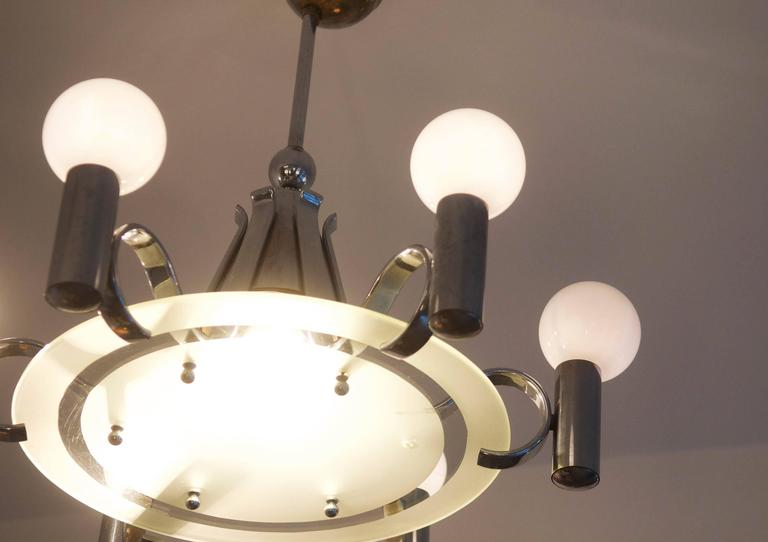 Czech Bauhaus Chandelier from the 1930s For Sale