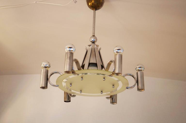 Mid-20th Century Bauhaus Chandelier from the 1930s For Sale