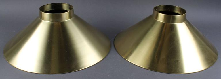 Mid-Century Adjustable Danish Brass Pendant by Lyfa For Sale 2