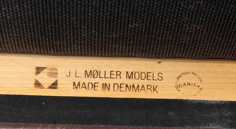Set of Six Oak Dining Chairs by Niels O. Moller for J.L.Moller For Sale 1