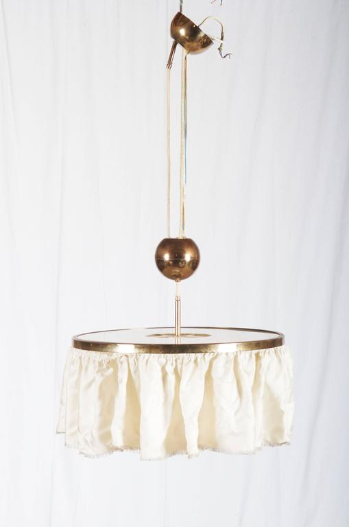 Adjustable Brass Lamp, Attributed to Adolf Loos For Sale 2