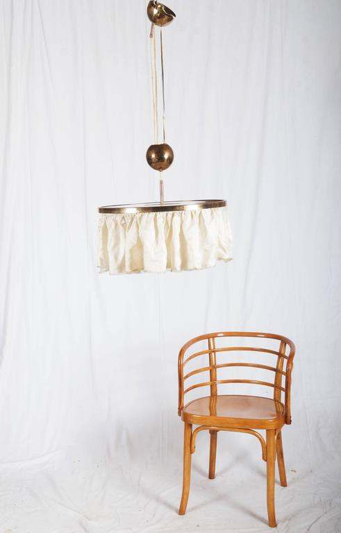 Adjustable Brass Lamp, Attributed to Adolf Loos For Sale 3