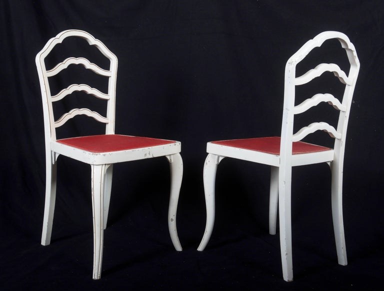 Mid-20th Century Set of Eight Thonet Dining Chairs For Sale