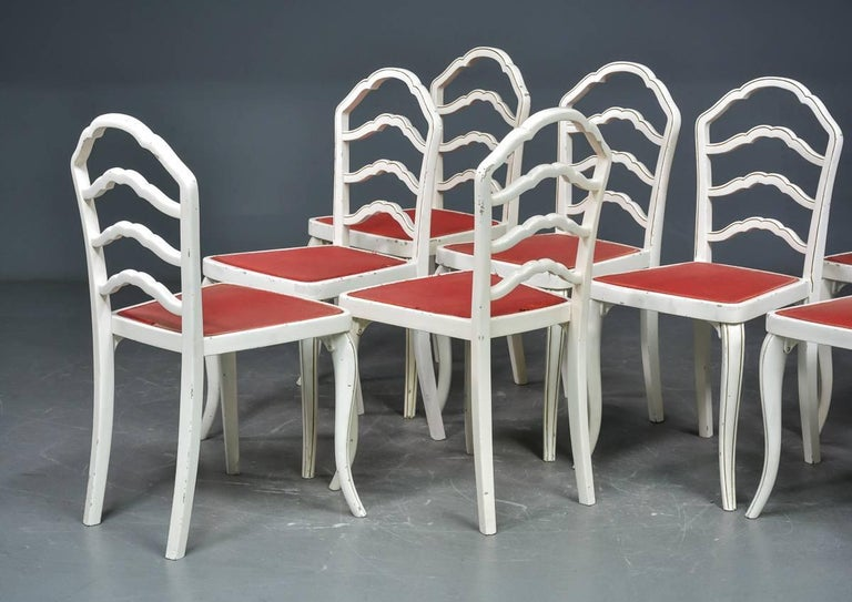 Set of Eight Thonet Dining Chairs For Sale 2