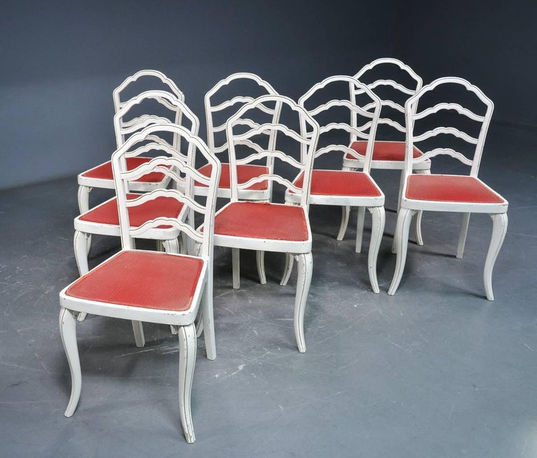 Set of Eight Thonet Dining Chairs For Sale 3