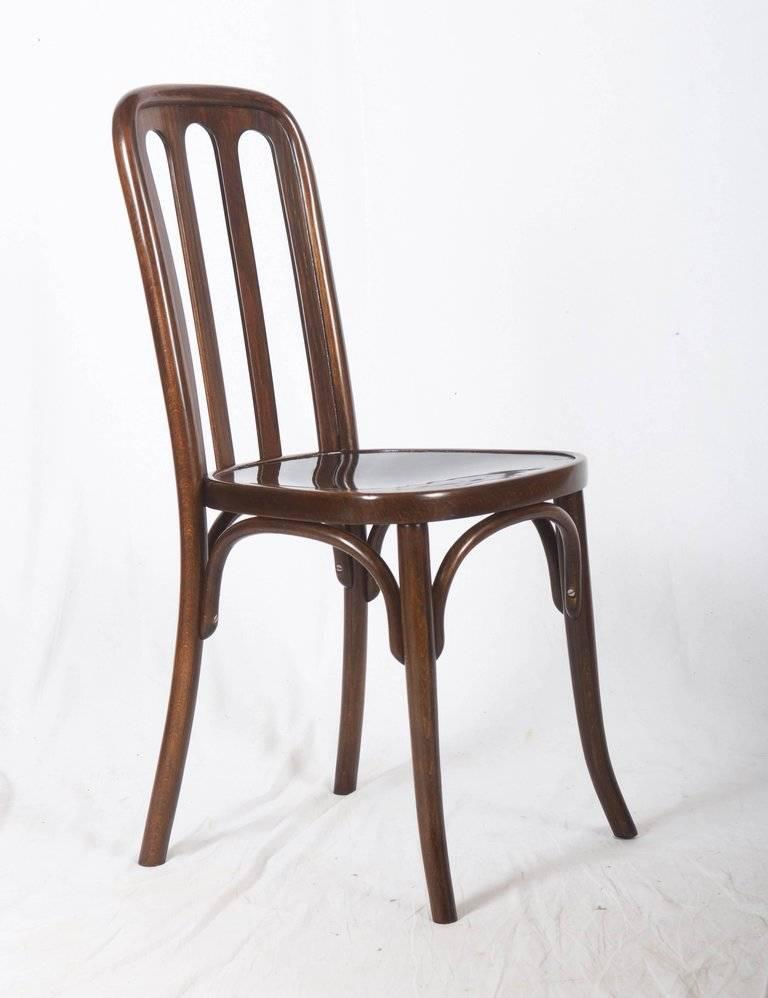 Austrian Dining Chairs by Josef Hoffmann for Thonet For Sale