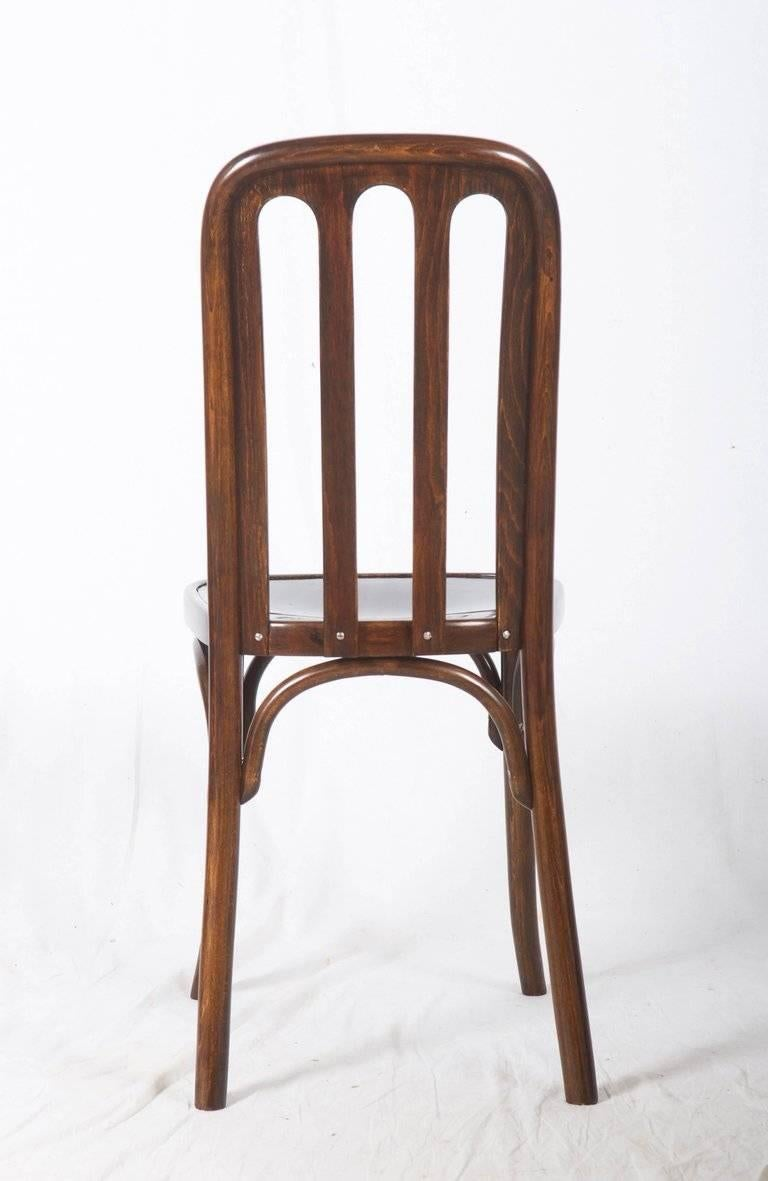 Dining Chairs by Josef Hoffmann for Thonet For Sale 3