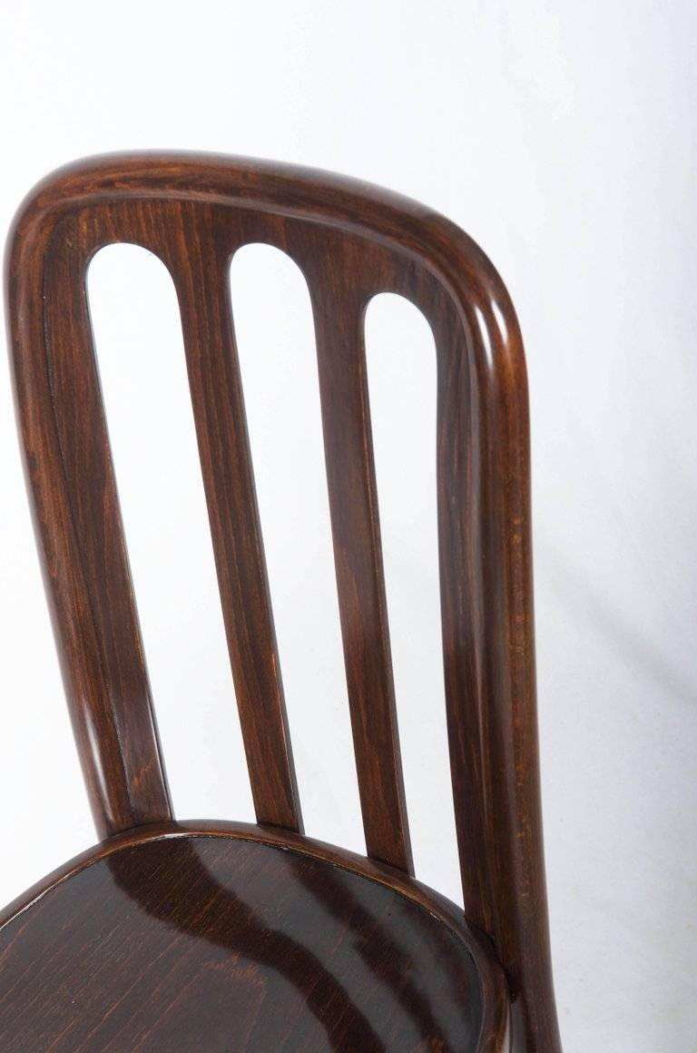 Dining Chairs by Josef Hoffmann for Thonet For Sale 2