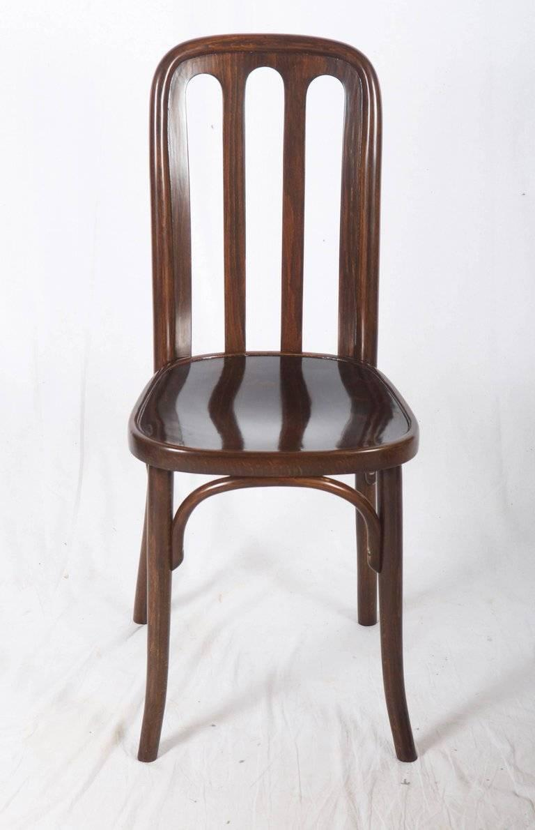 Beech Dining Chairs by Josef Hoffmann for Thonet For Sale