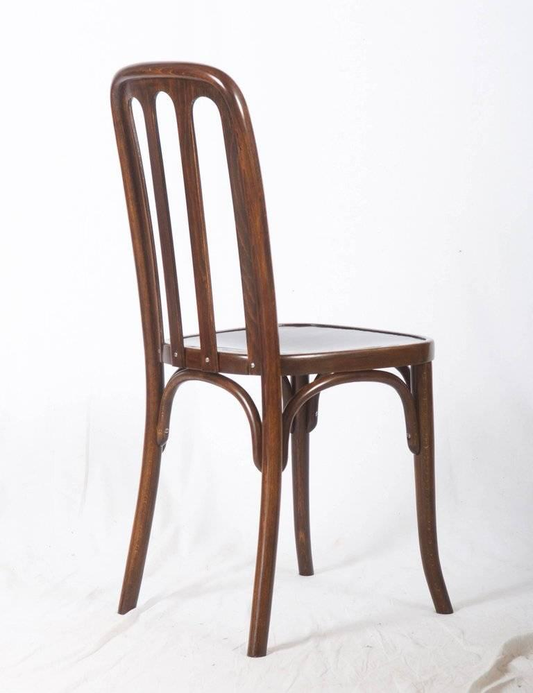Dining Chairs by Josef Hoffmann for Thonet In Excellent Condition For Sale In Vienna, AT