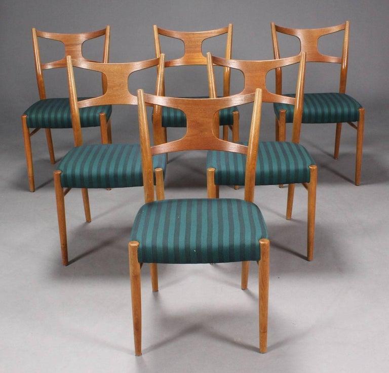 Velvet Rare Dining Chairs by Kurt Østervig For Sale