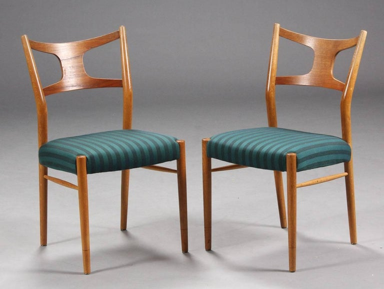 Danish Rare Dining Chairs by Kurt Østervig For Sale