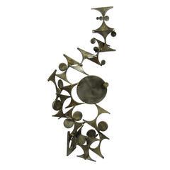 Mid-Century Modern Marc Weinstein Brutalist Bronze Sculpture