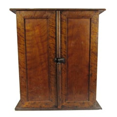 Antique American Country Diminutive Two-Door Pine Jelly Cupboard