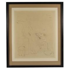 "Pablo Picasso ""Le Bain"" Etching and Drypoint"