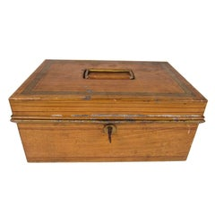 Yellow Grain Painted Tole Box
