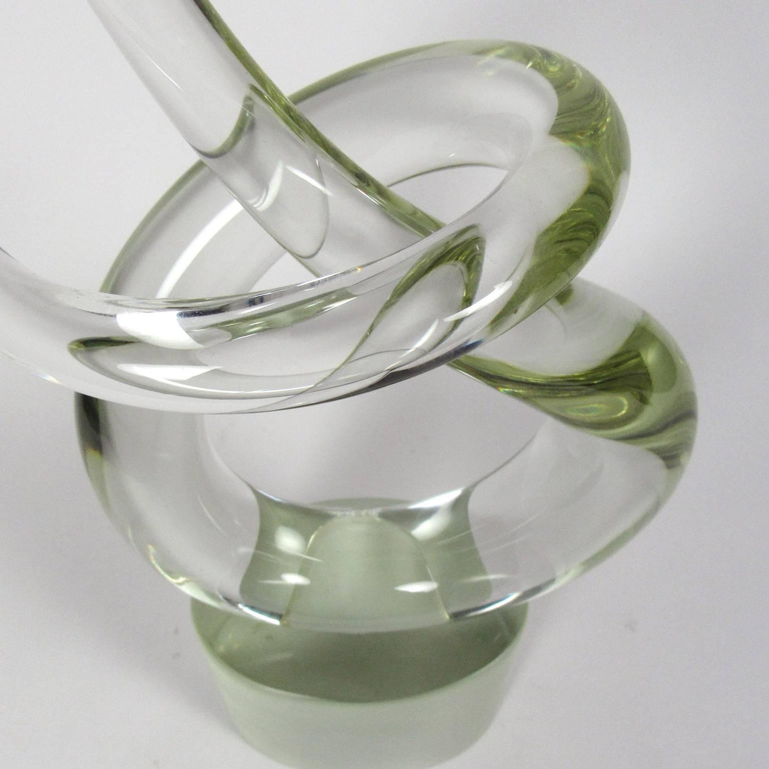 Murano Renata Anatra Clear Glass Abstract Sculpture For Sale at 1stdibs