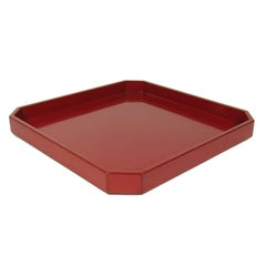 Sawaguchi Shigeru Japanese Red and Black Lacquer Tray