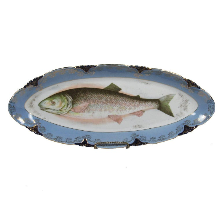 L Amp S Carlsbad Austrian Hand Painted Porcelain Fish Platter