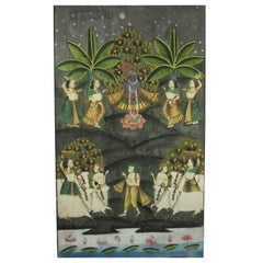 Indian Pichwei Painted Textile of Krishna