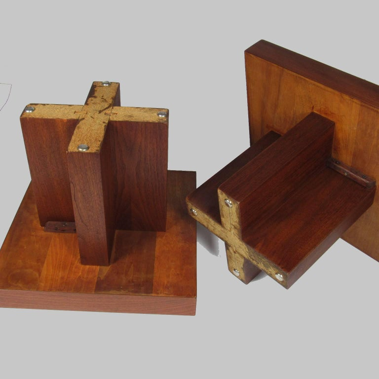 Pair of Milo Baughman Mid-Century Modern Square Side Tables 4