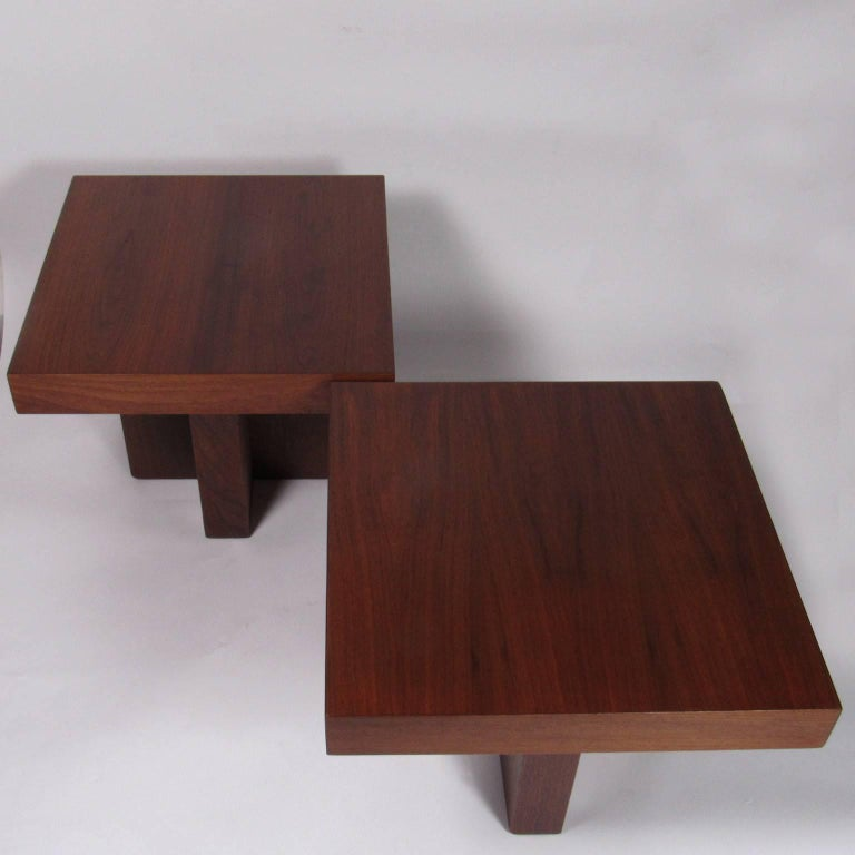 Pair of Milo Baughman Mid-Century Modern Square Side Tables 5