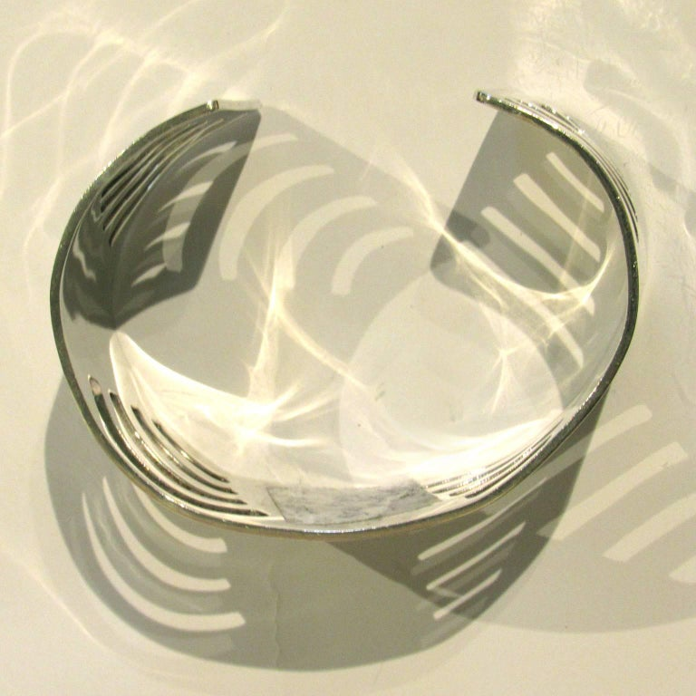 Mid-Century Modern Mexican Sterling Silver Cuff For Sale 1