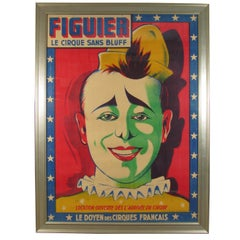 Figuier le Cirque Sans Bluff Midcentury French Poster