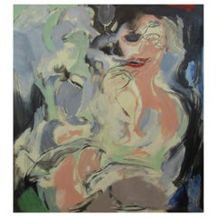 Lois Gross Smiley, Hommage a DeKooning Expressionist Oil