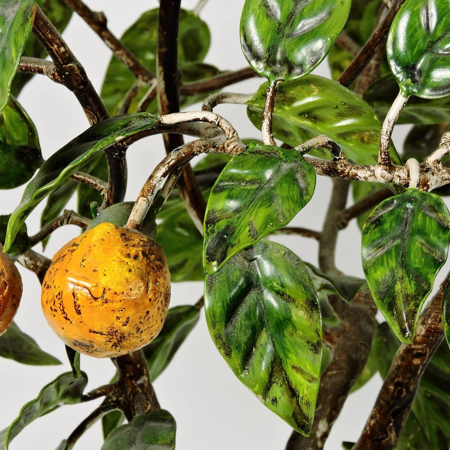 Tole Italy  city images : Vintage Italian Tole Painted Metal Orange Tree Topiary at 1stdibs