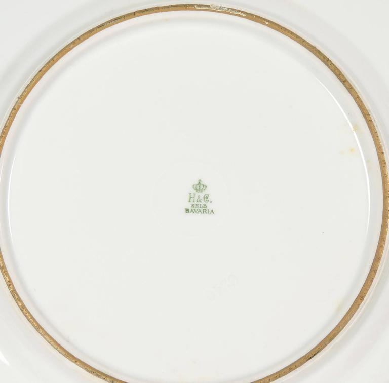 Selb Bavaria Gold Rimmed Dinner Plates For Sale  sc 1 st  1stDibs : gold rimmed dinner plates - pezcame.com