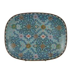 Antique 19th Century Chinese Cloisonné Tray