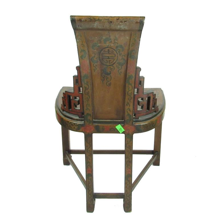 Pair of antique chinese lacquered side chairs circa 1900 for Asian chairs for sale