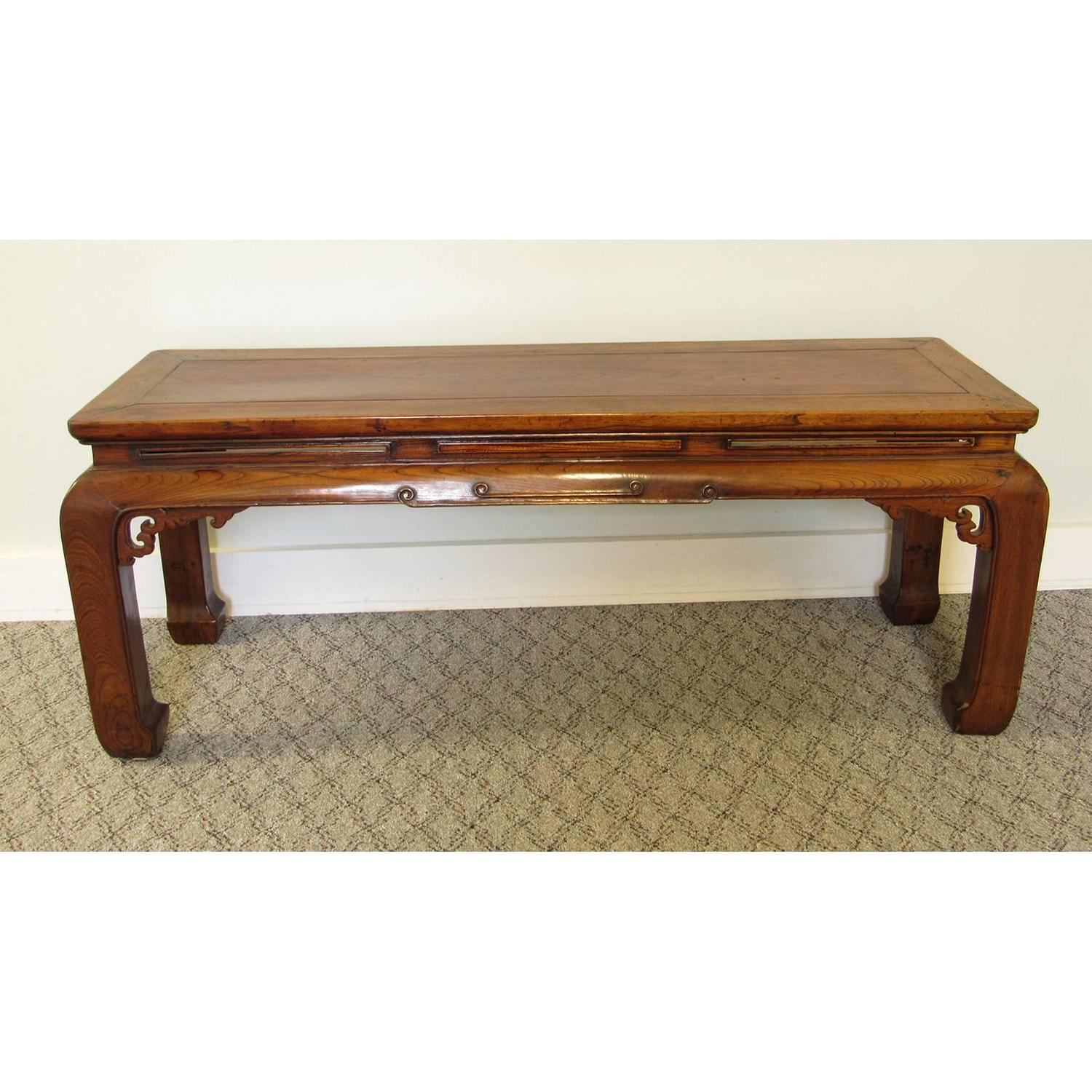 antique chinese ming style carved hardwood table 19th 11772 | fn4102 5 z