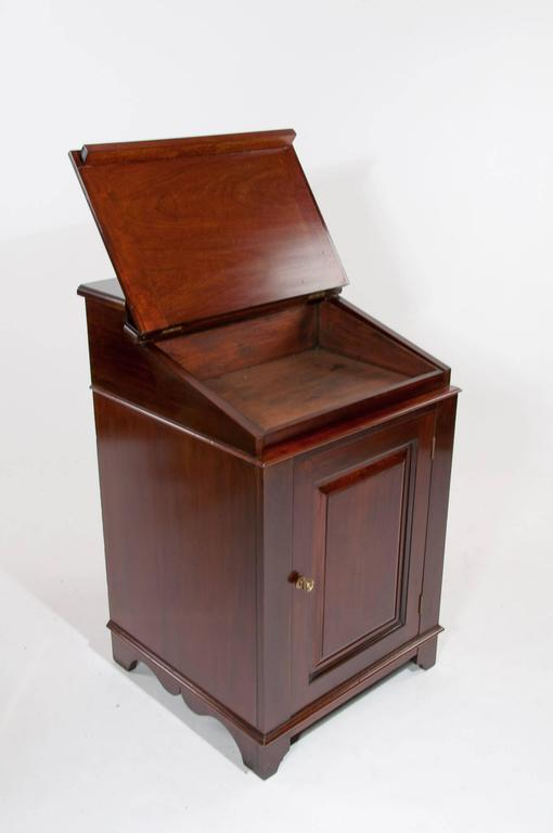 English Antique Mahogany Davenport Writing Desk