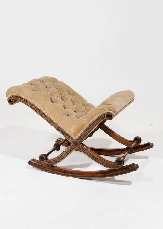 Fine Antique Rocking Gout Stool At 1stdibs