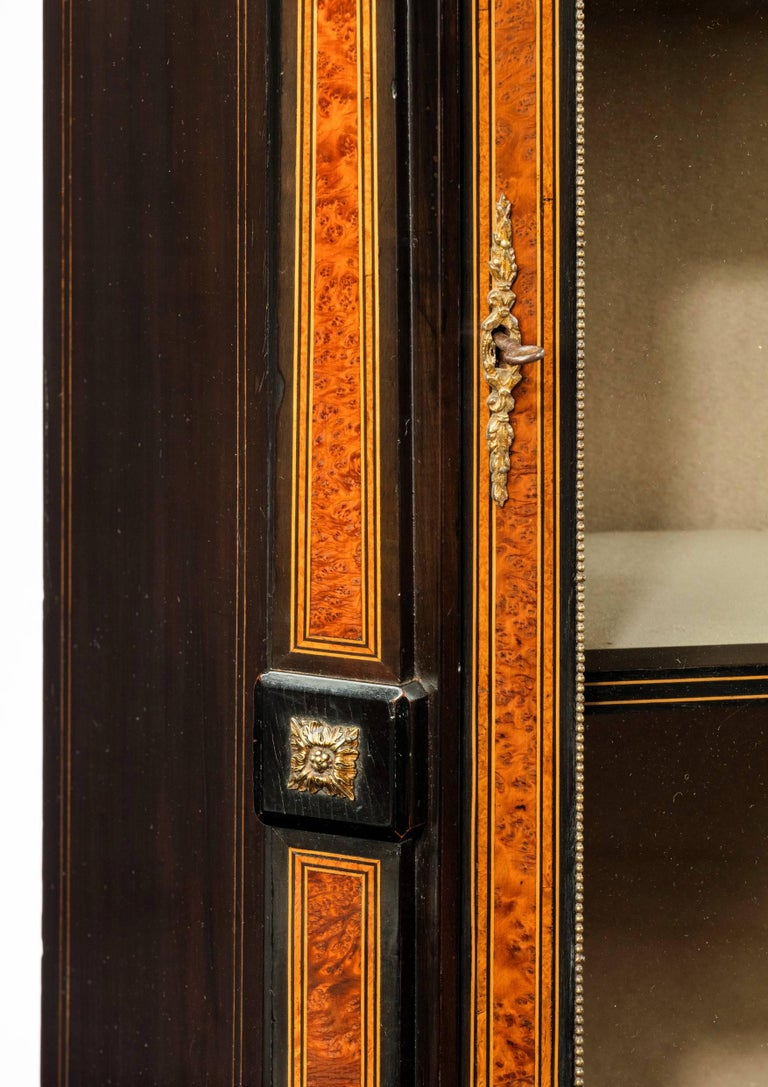 Ormolu Fine Pair of 19th Century Antique Pier Cabinets For Sale