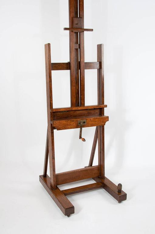 Large Victorian Oak Easel Winsor and Newton In Excellent Condition In Benington, Herts