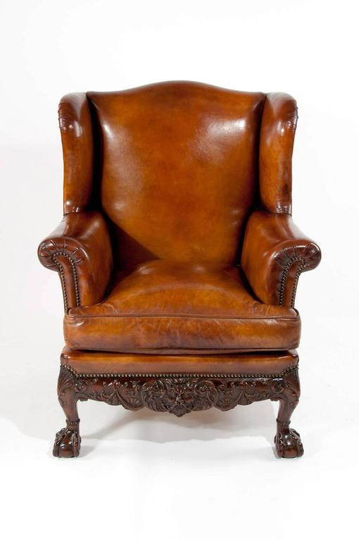 leather wing armchair 28 images antique deep buttoned  : LeatherWingChair13l from bedlamagora.com size 510 x 768 jpeg 31kB