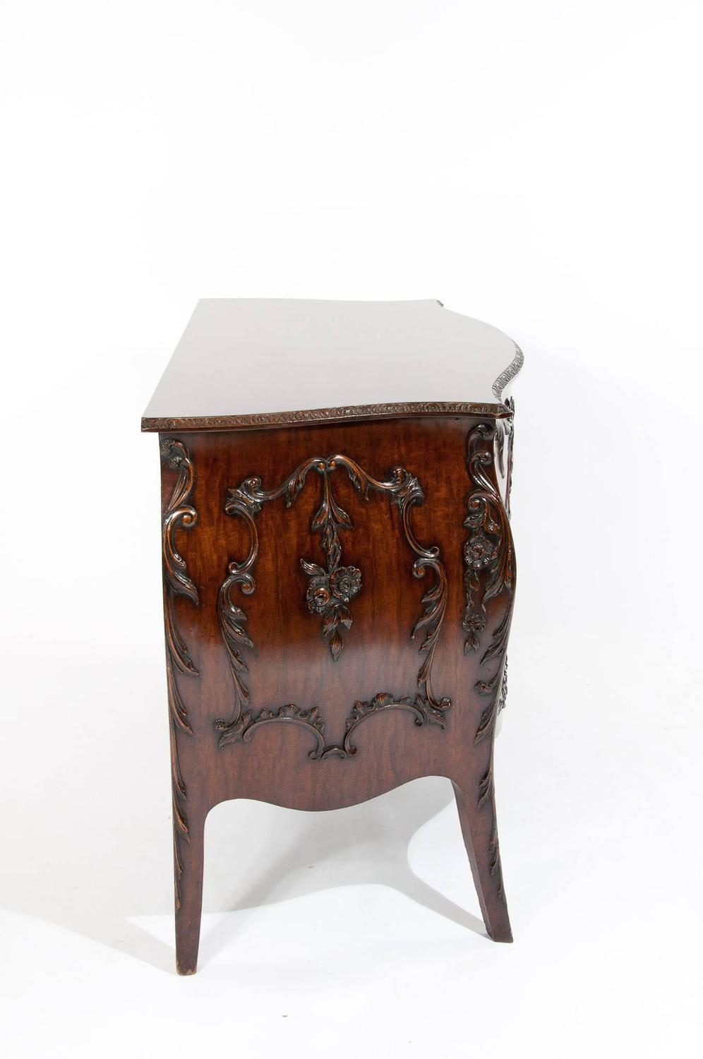 Exquisite 19th century carved bombe cabinet for sale at for Carved kitchen cabinets